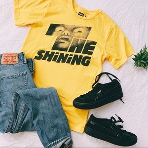 Tops - THE SHINING | Small | Black & Yellow Graphic Tee